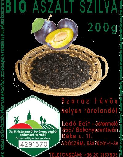 Eladó - BIO Aszalt SZILVA - Ledó Edit - őstermelő